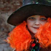 Portrait of a girl dressed a mad hatter!