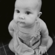 Baby looking solmen