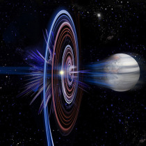 Creative image of a planet being shredded